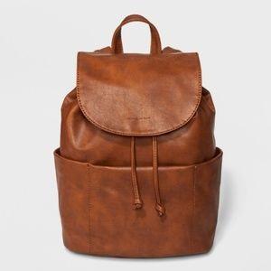 UNIVERSAL THREAD Cognac Vegan Leather Backpack NEW